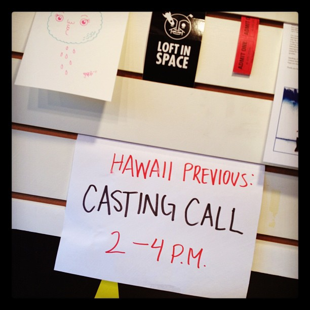 Our first casting call. (Photo: Dan Zelikman)