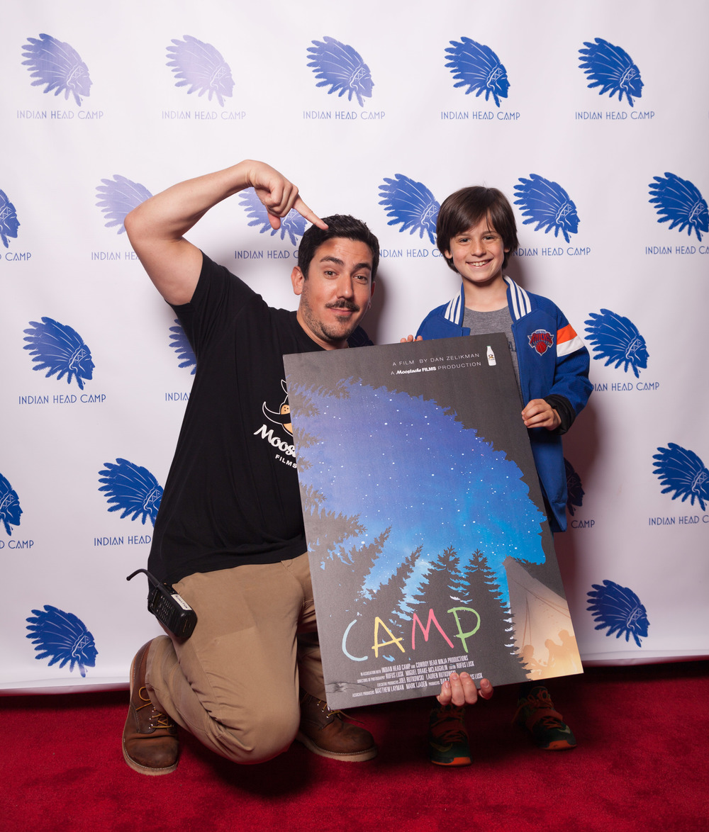 Director Dan Zelikman with one of the stars of Camp