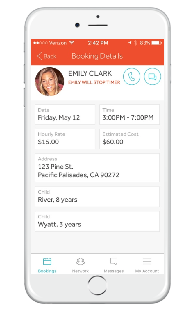 PAY - We track the time while you're away. At the end of the sit, you or your sitter will stop the timer and you'll confirm (or adjust) the hours, then pay right through the app. NO CASH EVER!