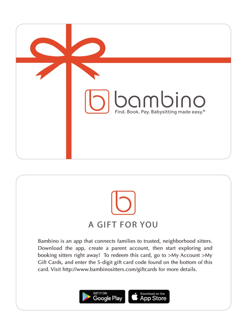 One Bambino Gift Card Bambino Sitters
