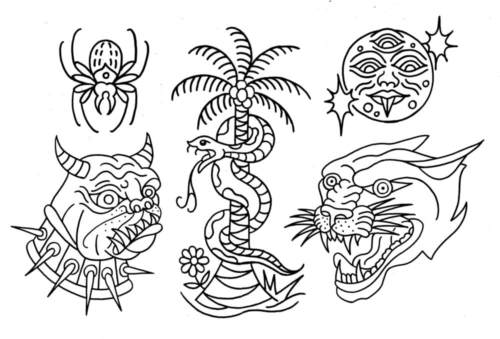flash tattoo designs jake vantiger