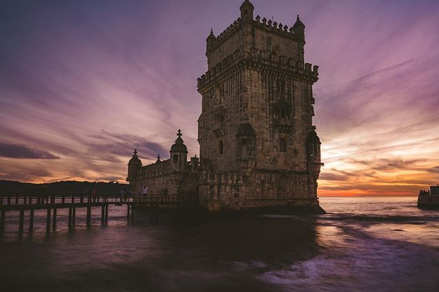 Belem Tower, Lisbon. One of two very pretty sunsets that we saw. #lisbon #travelphotography #sonya7iii #landscapephotography