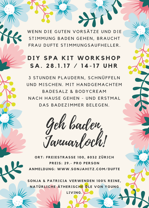 DIY Spa Kit Workshop Jan. 28th