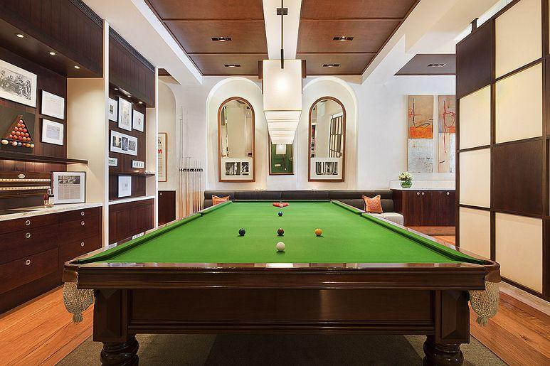 An original billiard table.