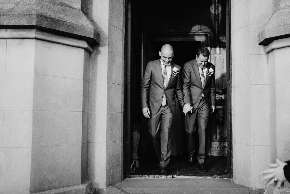 Same-Sex wedding featured on Mr Theodore a wedding directory Australia. Featuring Prunella, Churchill Events and Long Way Home Photography.