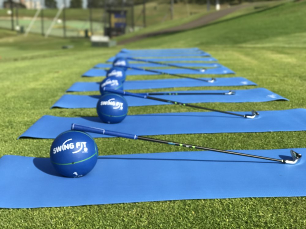 Fitness mats, medicine balls and stretching devices are all provided