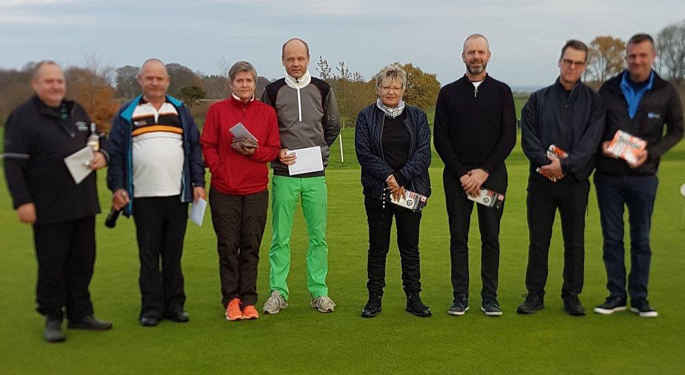 Vinderne i B rækken : Bent Andersen, Allan Andersen, Annie Ølgaard, Kenneth Pedersen, Pia Nyholm, Ove Aagaard, Peter Storm og Anders Storm.