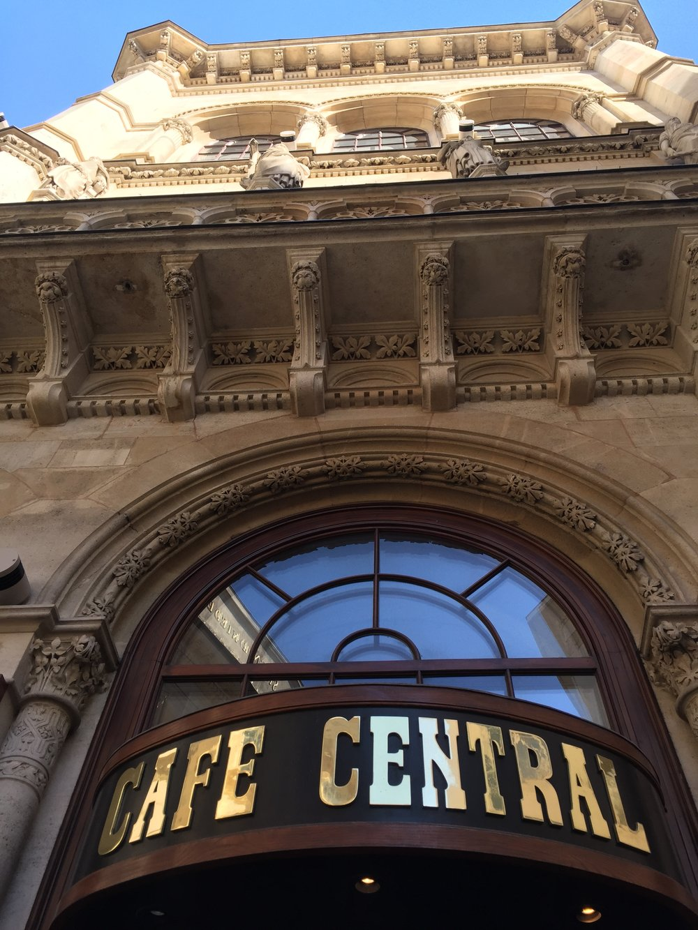 Grab a coffee at  Cafe Central . A Viennese cafe steeped in history with frequent visits from Sigmund Freud and Adolf Hitler.