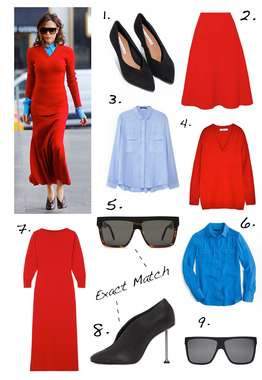 THE GROWN UP EDIT - Victoria Beckham Red And Blue