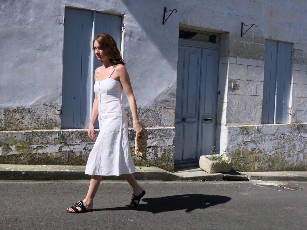 THE GROWN UP EDIT - Mango White Linen Dress