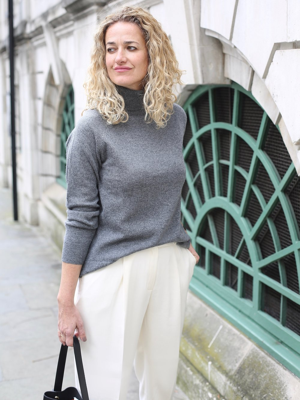 THE GROWN UP EDIT - Massimo Dutti grey roll neck sweater
