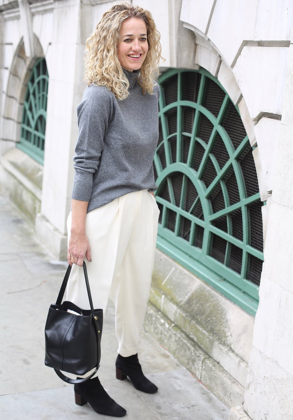 THE GROWN UP EDIT - Massimo Dutti grey polo neck