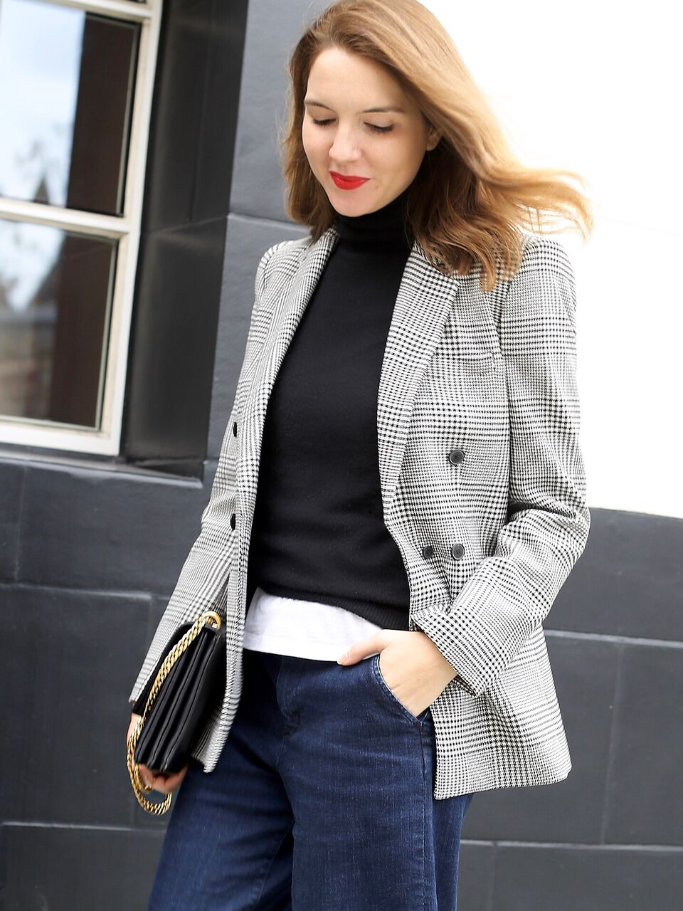 THE GROWN UP EDIT - Houndstooth Blazer