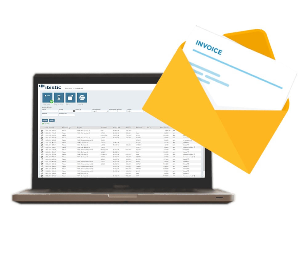 receive electronic invoices with Ibistic