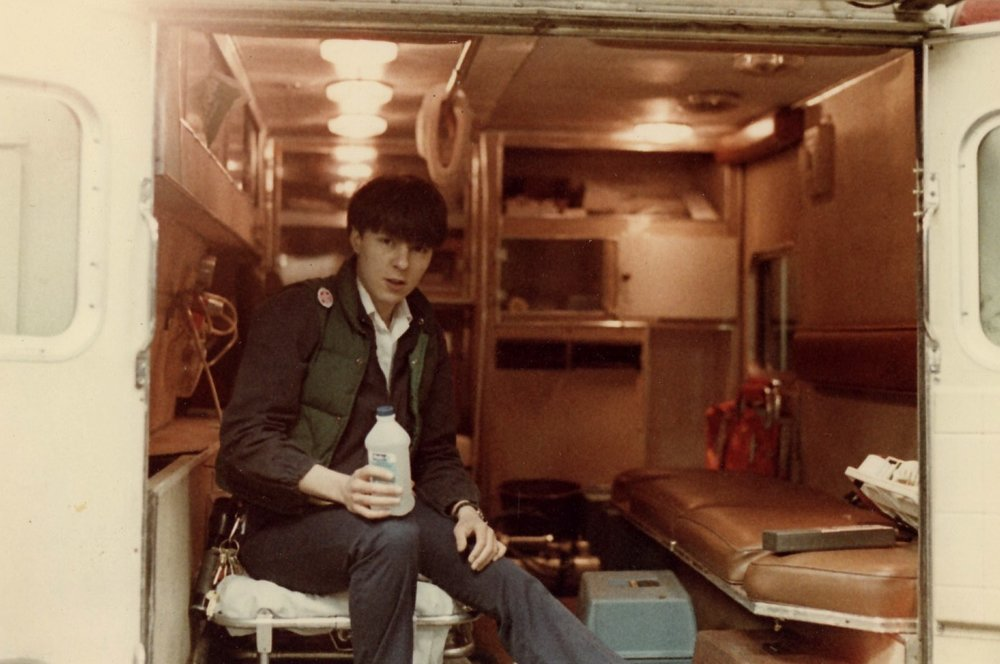 1983 cleaning the bus