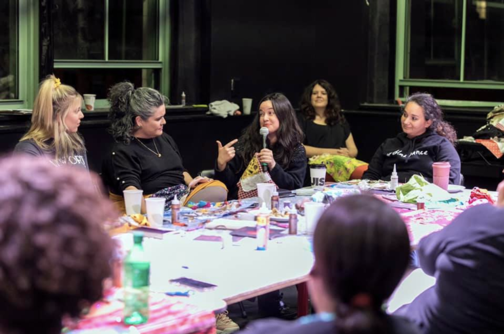 Pulling Threads      workshop lead by local NYC-based Elder, Muriel Miguel. Image by Emily Johnson. Performance Space New York 2019