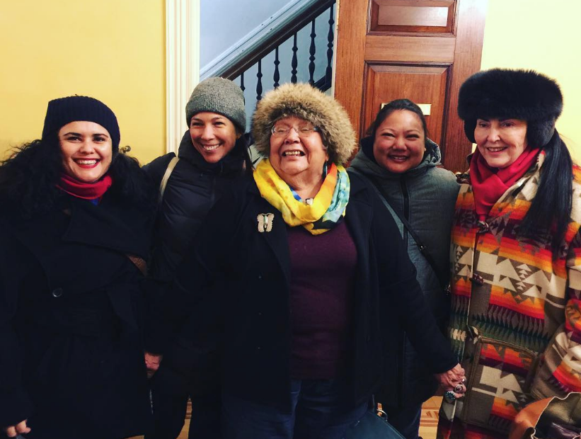 Paola Balla, Emily Johnson and Angela Flynn with Muriel Miguel, Spiderwoman Theater & Diane Fraher, Amerinda