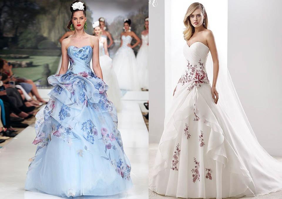 Trucco Matrimonio Abito Azzurro : Abito colorato per una sposa originale — wedding langhe e