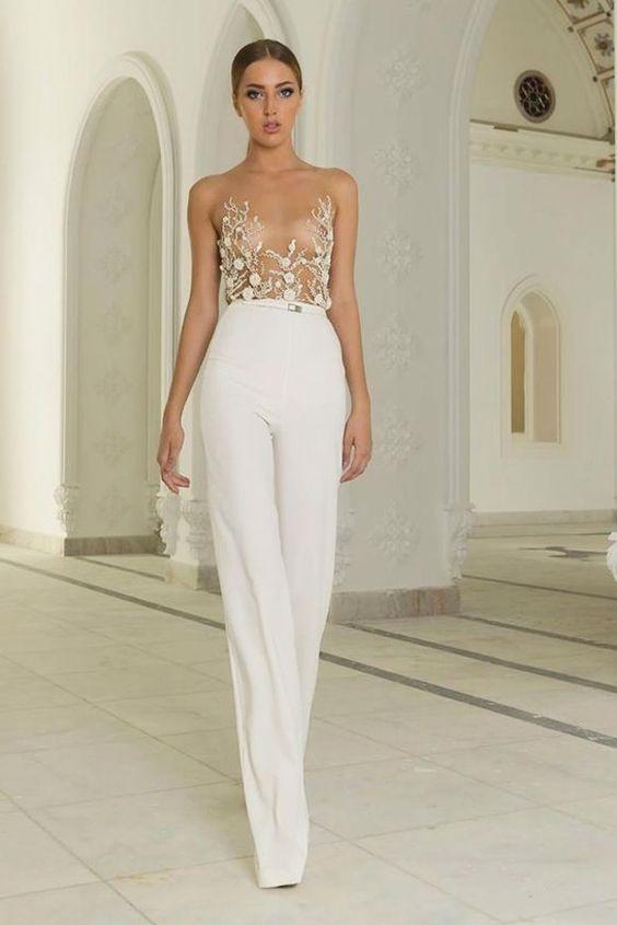 hot sales 76184 8b204 Abiti da sposa con pantaloni a palazzo – Vestiti da cerimonia