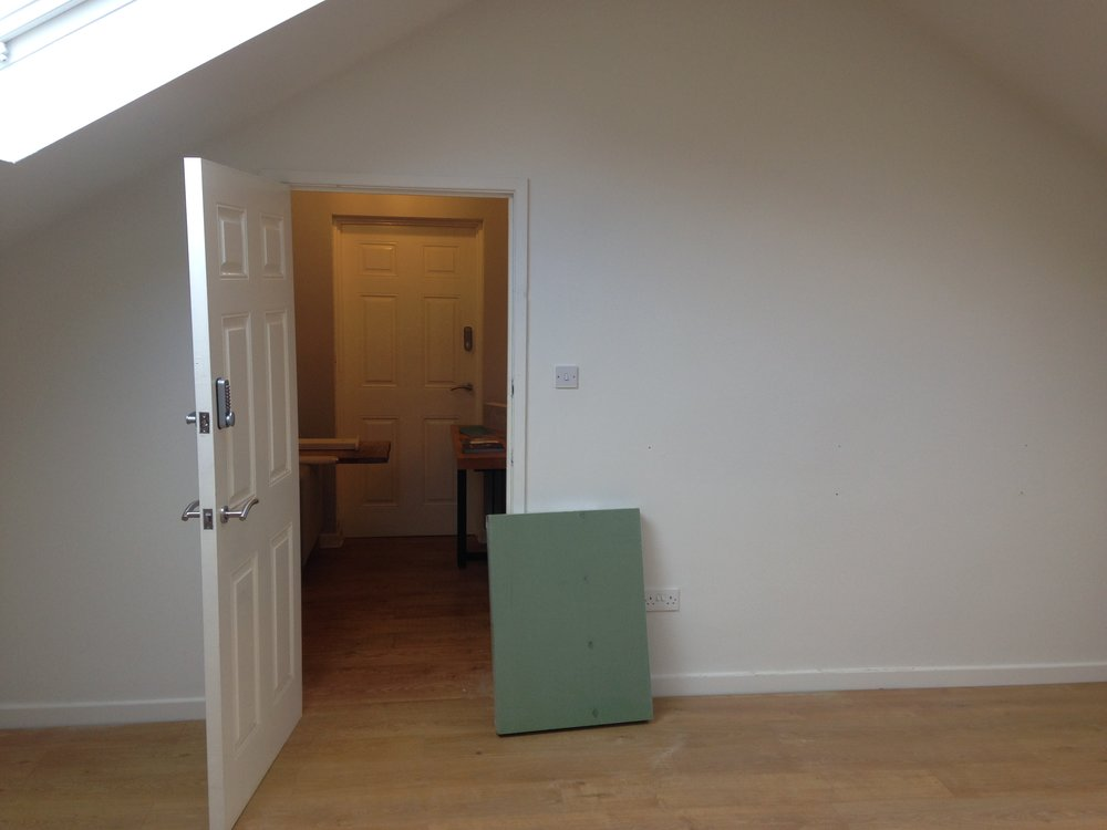 Front door of the new clinic Kelham Therapy Room