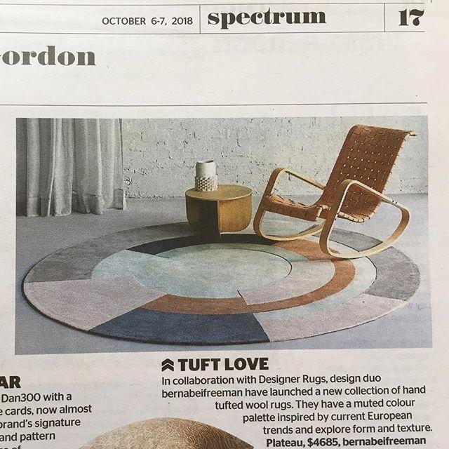 SMH spectrum today! #designerrugs #australiandesign #woolrug  #bernabeifreeman