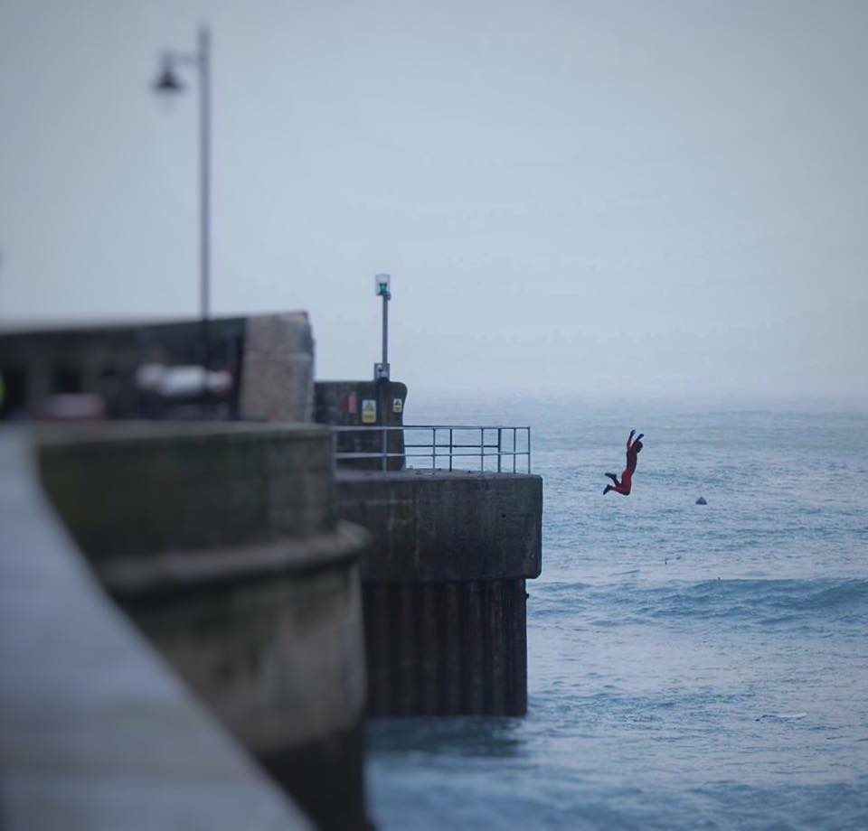 The Newquay Harbour Wall Jump