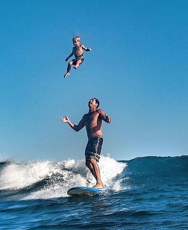 Gotta love your first wave with Dad... 📷 @mikecoots
