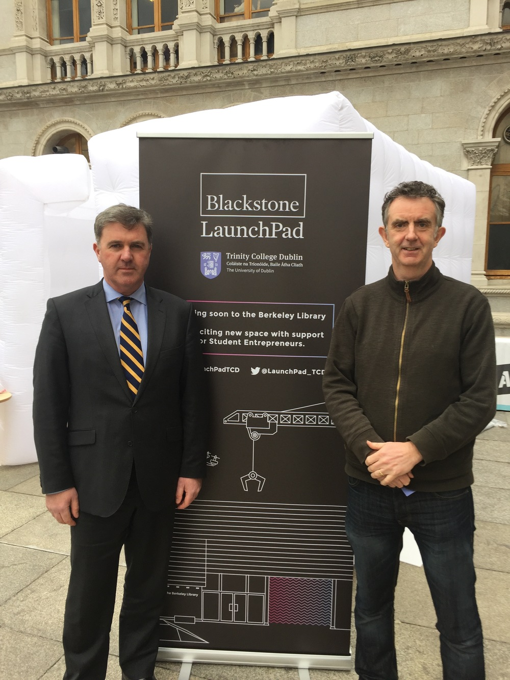 Announcement of Blackstone Launchpad with John Whelan, Director of Innovation, TCD