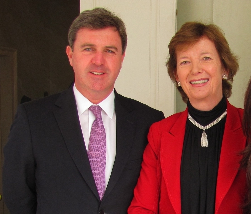 With Mary Robinson at Trinity Business School fundraising lunch, New York