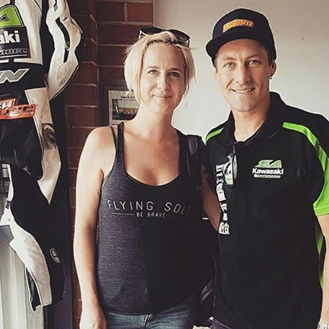 This beauty 😍  REPOST  from @missr6xy -  Just hanging with @_josh_brookes 👌Have to say Im pretty stoked 😂 #fxsuperbikes #sakawasaki #ixon✖✖✖✖✖ FOLLOW @flyingsologear for your daily dose 💯  #flyingsologear