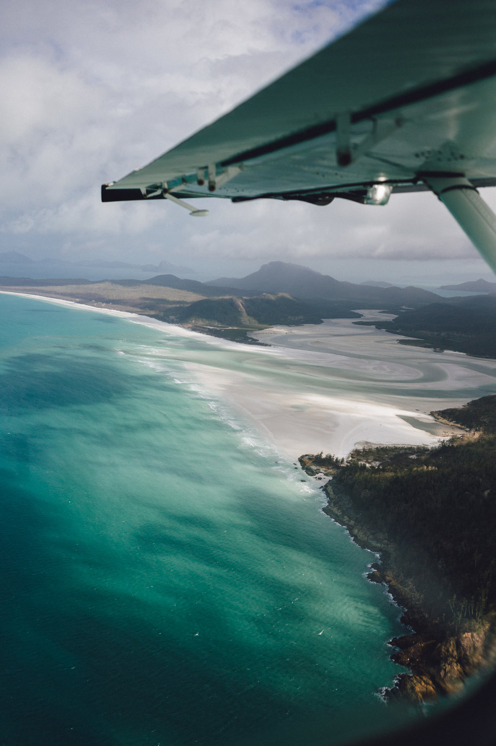 Scenic views of Whitehaven Beach.