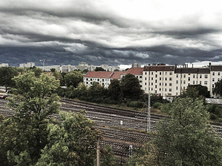 11am  Overcast Skies over Soviet East Berlin My Depression kicks in. Yay.