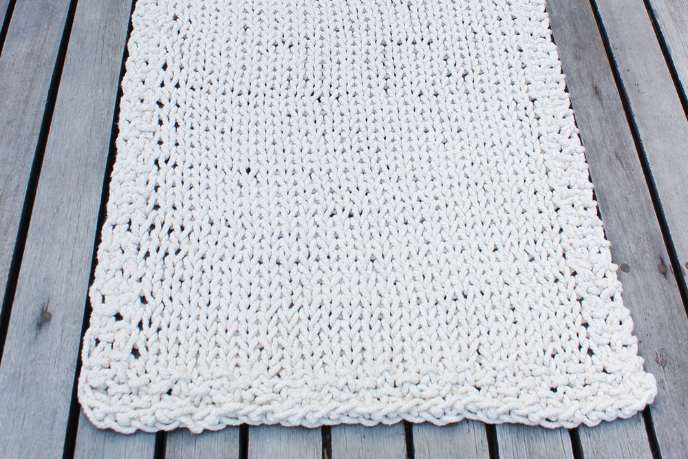 """DRESS YOUR FLOORS"" KNITTED BATHMATS AND FLOOR THROWS   Large - Approx 90cm x 180cm)  Medium - (Approx 90cm x 120cm)  Small - (Approx 60cm x 90cm)"