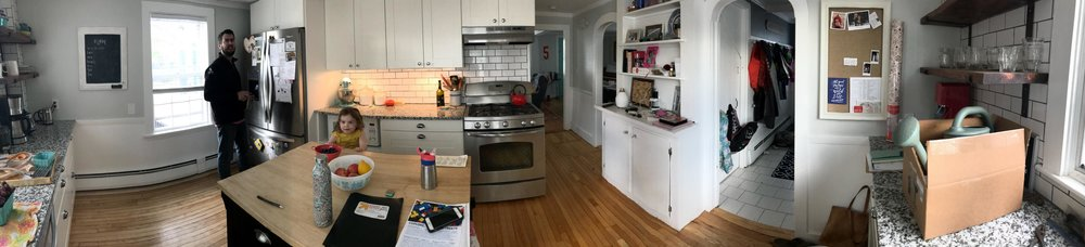 kitchen before with all the clutter