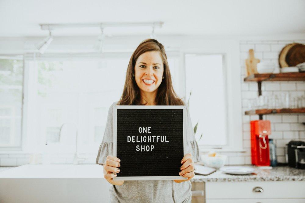 one delightful shop sign letter board