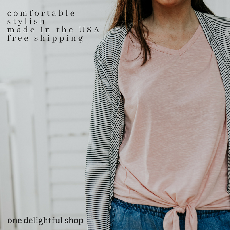 one delightful shop | made in the USA clothing, accessories