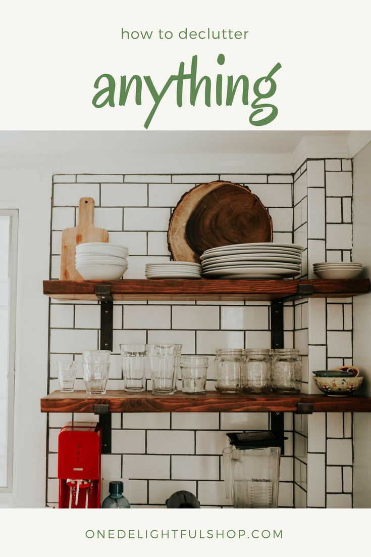 how to declutter anything