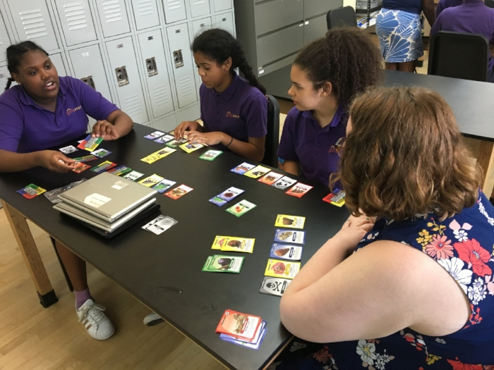 Game Designer, Illustrator, & KS Team Member Noelle Posadas Play Tests with Students at Girls Prep!