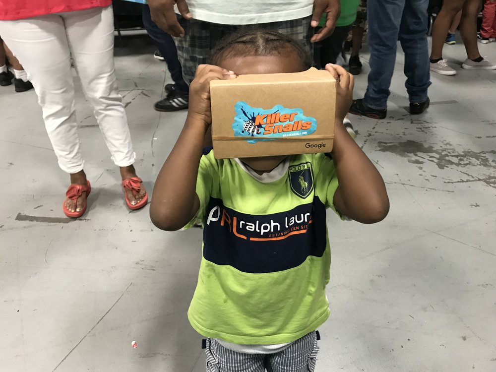 A young man's first VR experience!