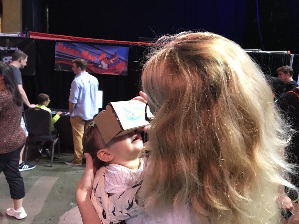 Baby VR face!