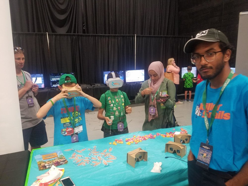 Isaac overseeing playtesting at MineFaire