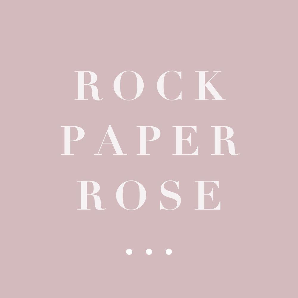 """Rock Paper Rose - Branding   The following is placeholder text known as """"lorem ipsum,"""" which is scrambled Latin used by designers to mimic real copy. Mauris egestas at nibh nec finibus. In sit amet felis malesuada, feugiat purus eget, varius mi. Sed a ligula quis sapien lacinia egestas. Nullam sit amet nisi condimentum erat iaculis auctor."""