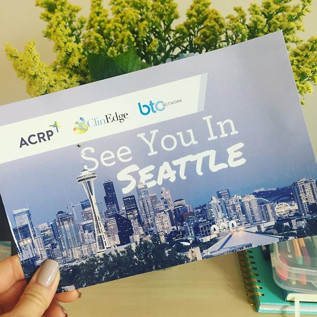 Who's going to the ACRP Annual Conference? 🙌 Let's meet up if you're going! Seattle, here we come!! #ACRP #CCRA #ACRP2017Meeting