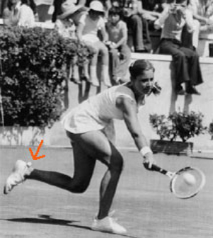 70s tennis star Chris Evert knew how to rock the pom pom socks!