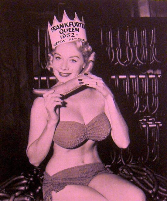 Miss Frankfuter Queen, 1950 (sponsored by Hebrew National)