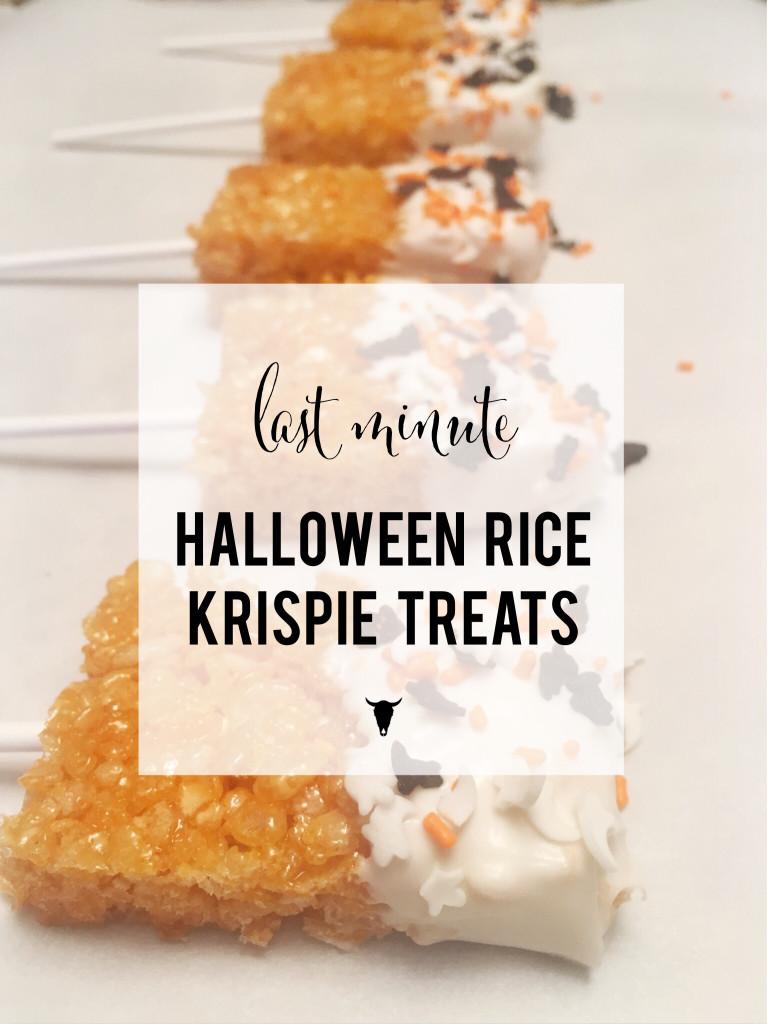 Last minute rice krispie treats - rad maverix