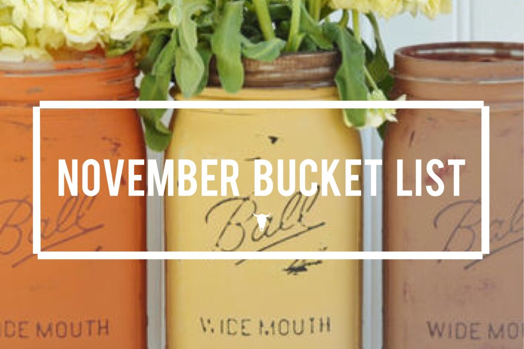 November Bucket List - Rad Maverix
