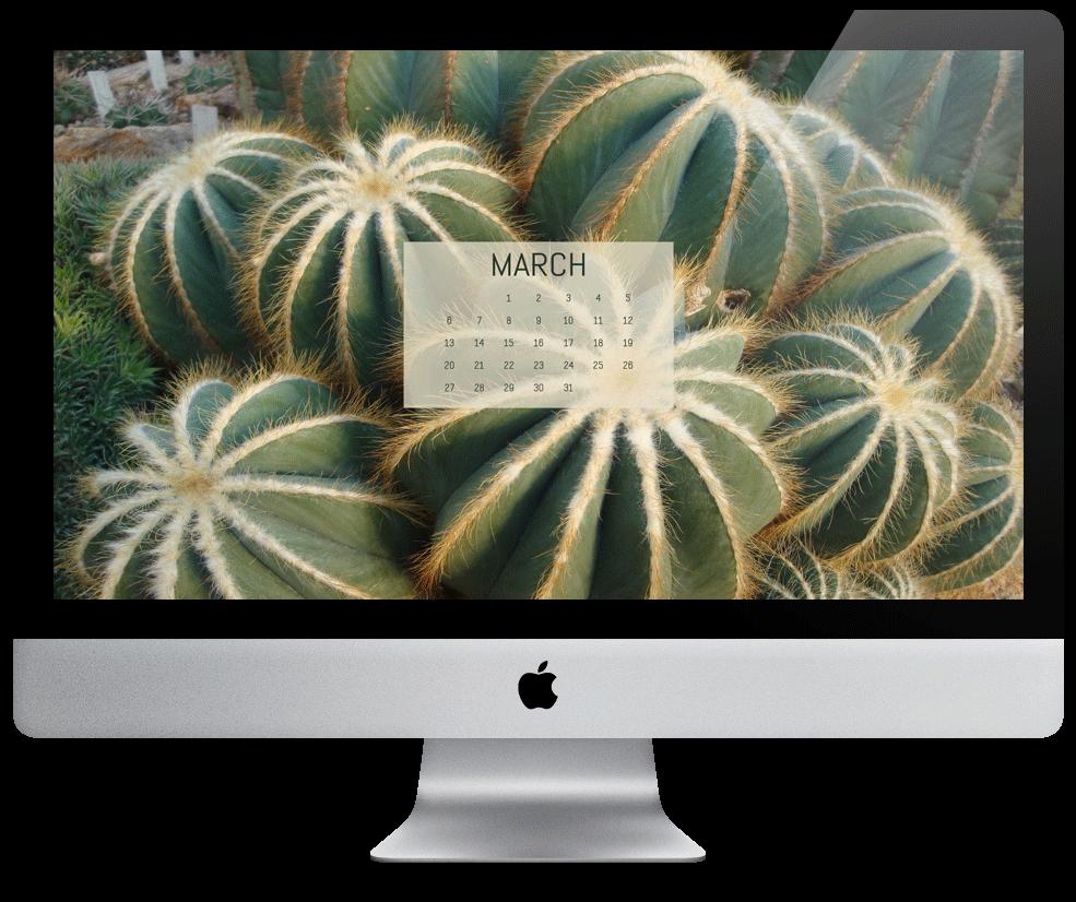 Free March Desktop Calendar / Wallpaper