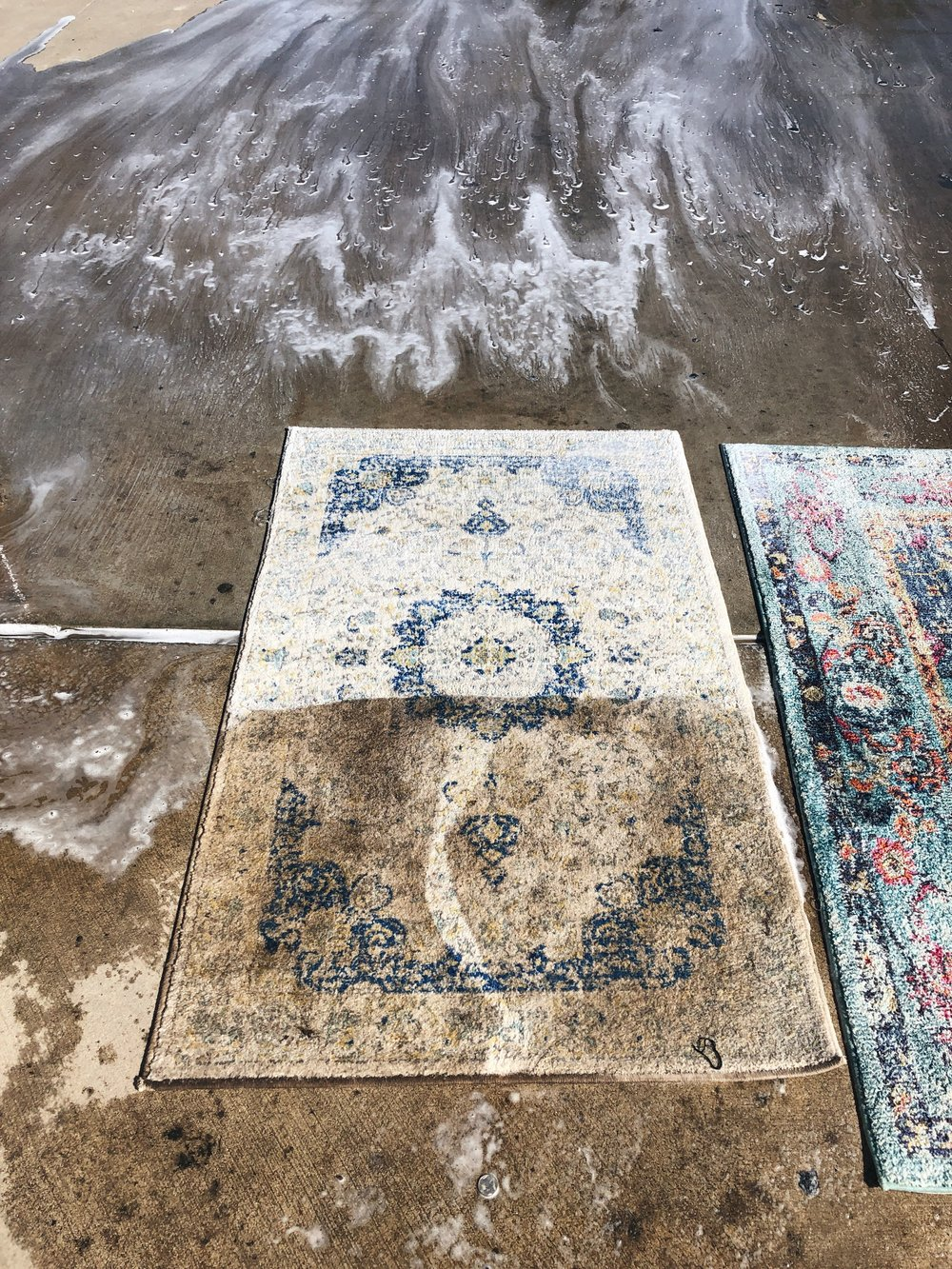 This rug was on our front porch, hence why it was so dirty :)