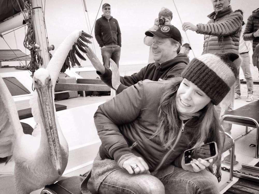 Tierischer Besuch an Bord unseres Schiffes.